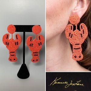 Kenneth Jay Lane lobster drop earrings
